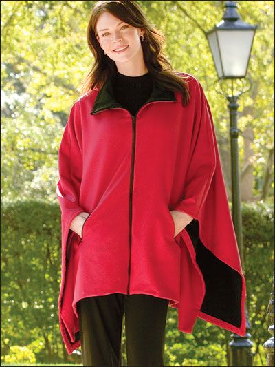 Sewing - - Rain Chaser - Zip front poncho with zipped pockets.  Made from water resistant fleece or other waterproof fabric, it's a great all-weather companion...especially for when I'm inj my wheelchair. Pdf pattern $3.99 from e-patternscentral.com