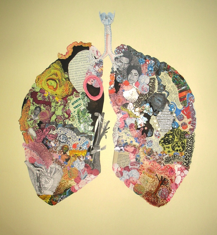 """""""Breathing"""".   Collage.   2011."""