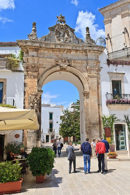 Martina Franca, Apulia, Italy - watched the passegiata from here....