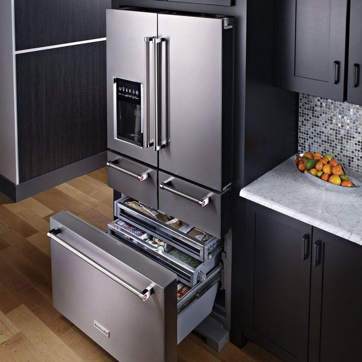 2 tier kitchen island outdoor countertops kitchenaid 5 door refrigerator   water dispenser and ...