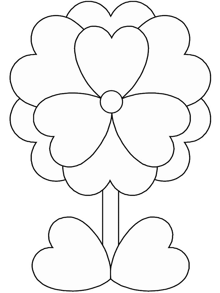 print out valentines day flower coloring pages for kids printable coloring pages for kids
