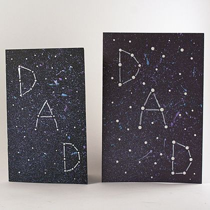 Wyatt would love making this.  Galaxy Constellation Father's Day Card by Amanda Formaro for Spoonful.com