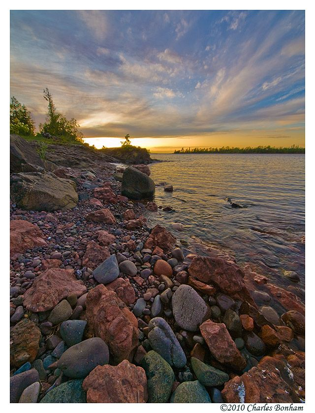 Copper Harbor, Michigan Sunset  --- WOW how beautiful is that!  )I loved gathering as many rocks as I could from there... the rocks on the beach are the colors of the sunset... even after you take them home... I am SO glad I found this picture on Pinterest!)