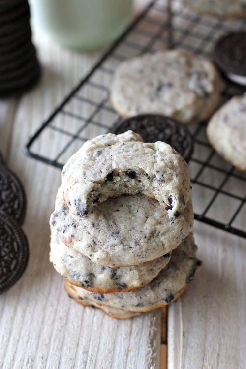 Candy Cane Oreo Cheesecake Cookies - Damn Delicious