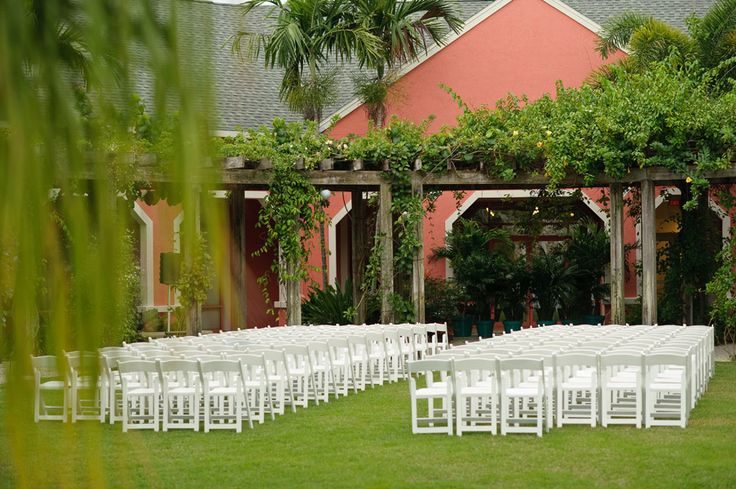 Ceremony set up at the Naples Botanical Garden Photo
