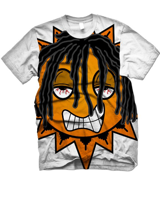 0 Polyester all over print IN STOCK!!Due to the method of t-shirt printing we use, for our all over printed t-shirts, it may cause white crease/line marks. We do not offer refund or exchange for this purpose
