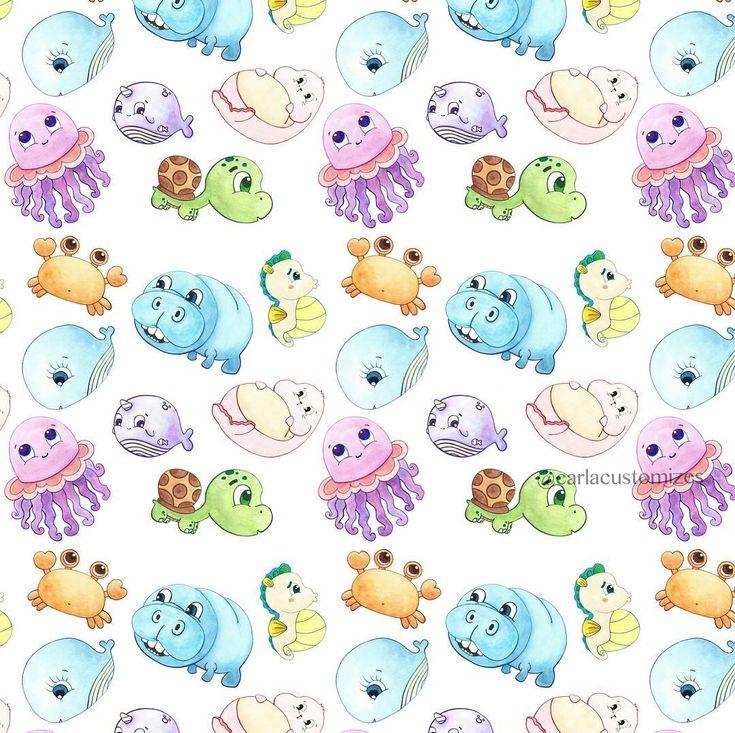 Sea Animals Textile Print