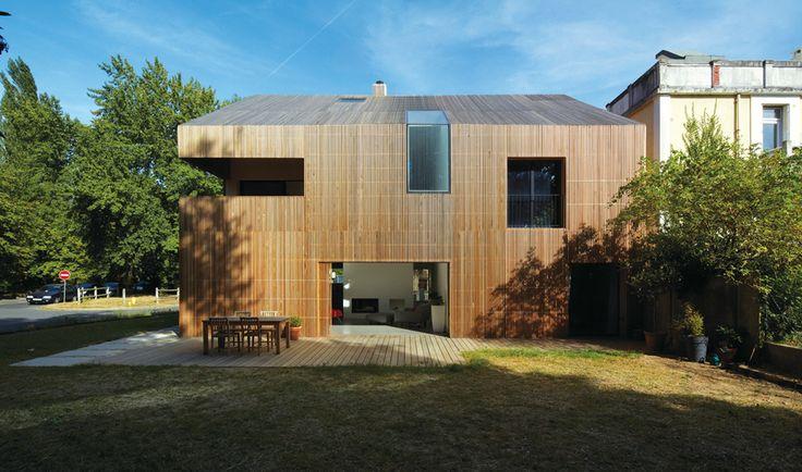 58 best Architecture images on Pinterest Architecture, Wood facade - maison bardage bois couleur