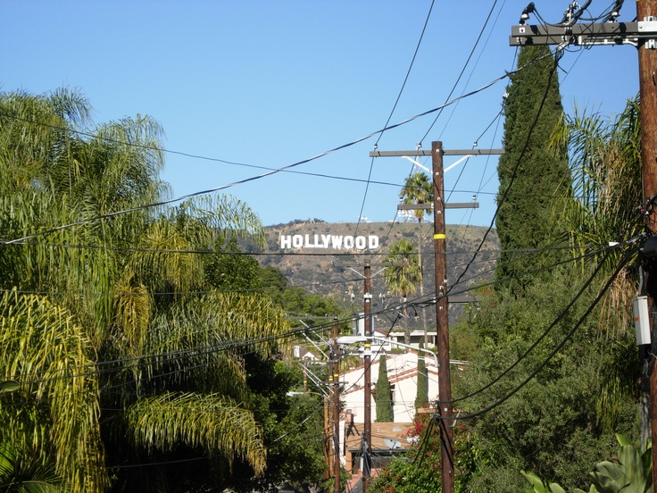The Hollywood sign in Hollywood, CA