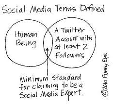 If you have 3 followers - you can definitely claim to be a social media expert.