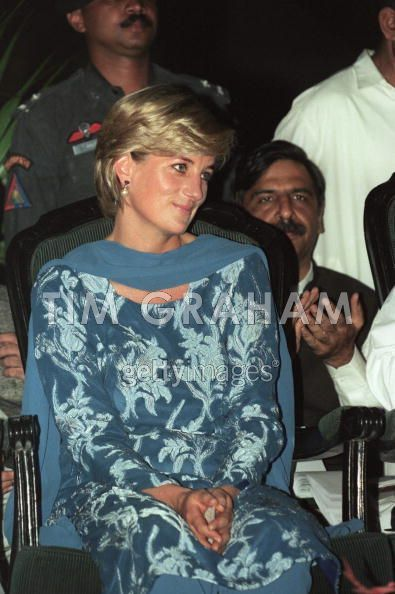 May 23, 1997: Diana, Princess of Wales visiting The Shaukat Khanum Memorial Hospital in Lahore, Pakistan.