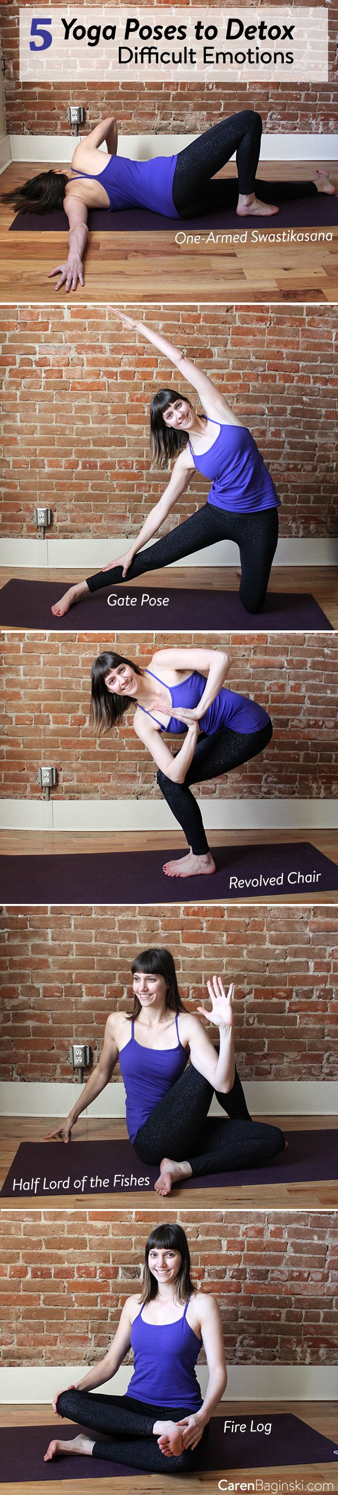 Release difficult emotions such as self-doubt, fear and anxiety through this simple yoga pose sequence to create a more confident mind and body.