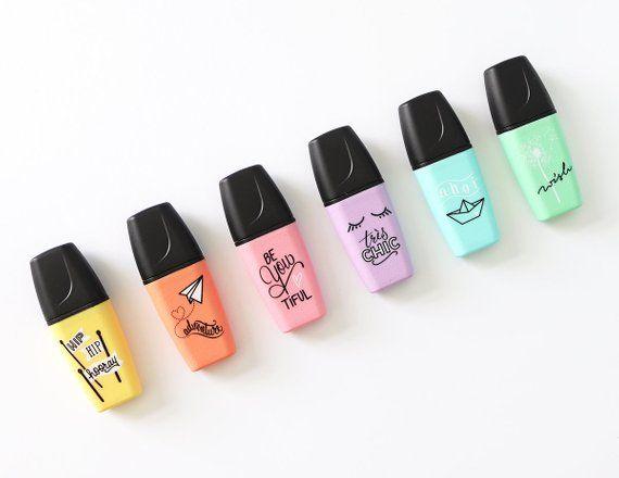 Stabilo Boss Mini Original Pastel Tiny Highlighters Markers Set Of