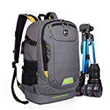 Abonnyc Dslr SLR Camera Backpack Rucksack Bag Case Shockproof Waterproof for Canon Nikon Sony Panasonic Olympus Pentax and Accessories Grey