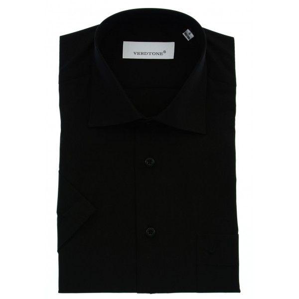 Klasik Düz Siyah Kısa Kol Gömlek - 1010-500A-02 http://www.verdtoneshop.com/gomlek/klasik-duz-siyah-kisa-kol-gomlek.html