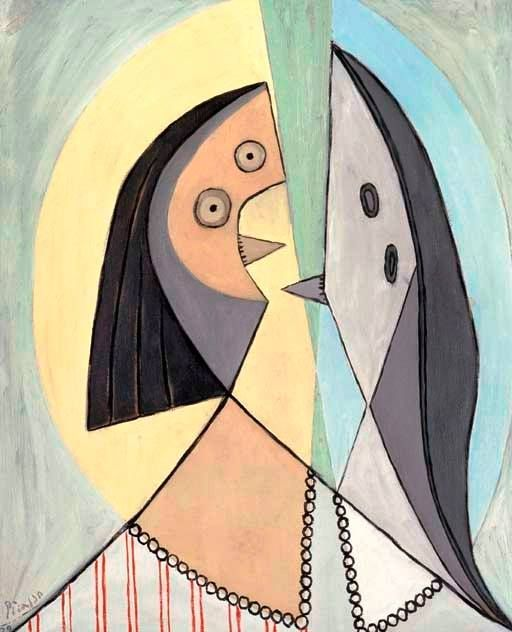 Pablo Picasso - Buste de femme. Painted in March 1929. Oil on canvas, 28¾ x 23 5/8 in. (73 x 60 cm.). @ Christie's Images, New York