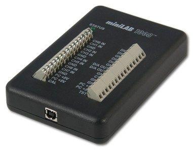 $151.98USD Tarjeta USB con 8 entradas análogas en modo común o 4 diferenciales, dos salidas análogas de voltaje de 10-bit (frecuencia de muestreo de 50S/s), 28 entradas/salidas digitales, un contador de eventos externo de 32-bit.  La MiniLab 1008 es una tarjeta de adquisición de datos precisa, poderosa y de bajo costo con 8 entradas analógicas de terminal común o cuatro diferenciales de 12 bits, 2 salidas análogas de 10 bits, 4 terminales de tornillo, 28 líneas digitales bidireccionales y un…
