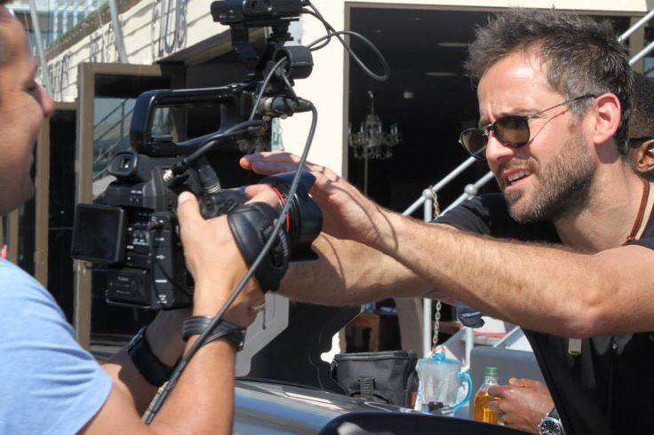 Janez Vermeiren (official) being cheeky with cameraman, Wimpy.