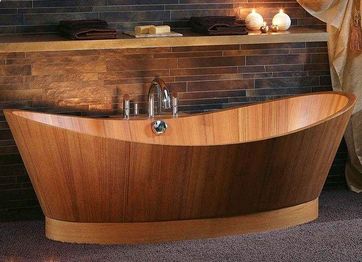 Create An Amazing Bathroom Design With Wooden Bathtubs