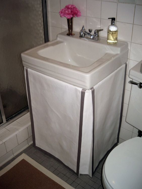 bathroom: an easy way to create a space for unsightly things like bleach, cleaner, etc