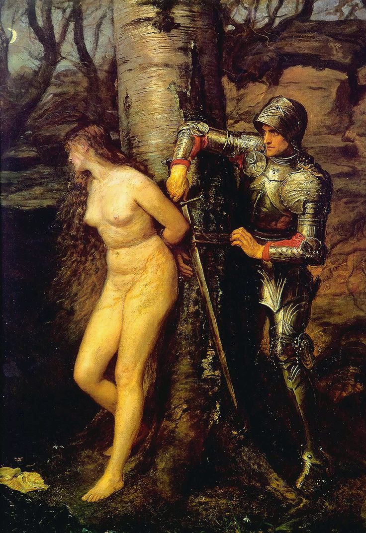 The Knight Errant (El caballero errante). John Everett Millais,1870. Guildhall Art Gallery, London.
