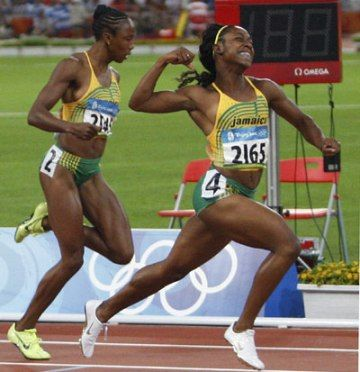 Shelly-Ann Fraser...the pocket rocket. Small in stature, but a powerhouse sprinter. Exploded on the scene at the 2008 Olympics and has not looked back since.