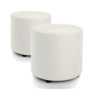 White Ottomans available at Higher Events