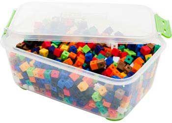 Linking Cubes 3 point- 1cm 10 colours 1000pc