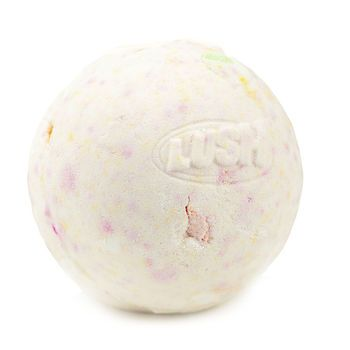 """Dragon's Egg bath bomb by Lush:   """"This mystical Bath Bomb fizzles, crackles, curls, and ends with a glitter explosion."""""""