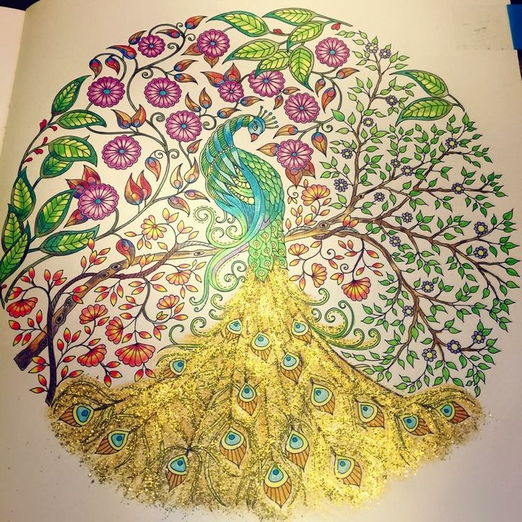 colored by shirley zhu paonssecret gardenscoloring books - My Secret Garden Coloring Book