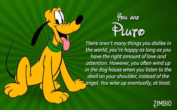 Which Classic Disney Character Are You Disney Quiz Pluto Disney And Humor