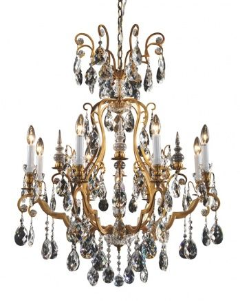 14 best crystal chandeliers images on pinterest crystal 9 light gold frame clear crystal chandelier mozeypictures Gallery
