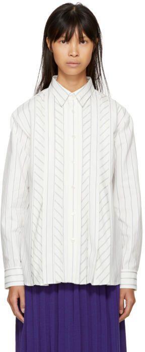 Harikae Off-White Button-Up Shirt
