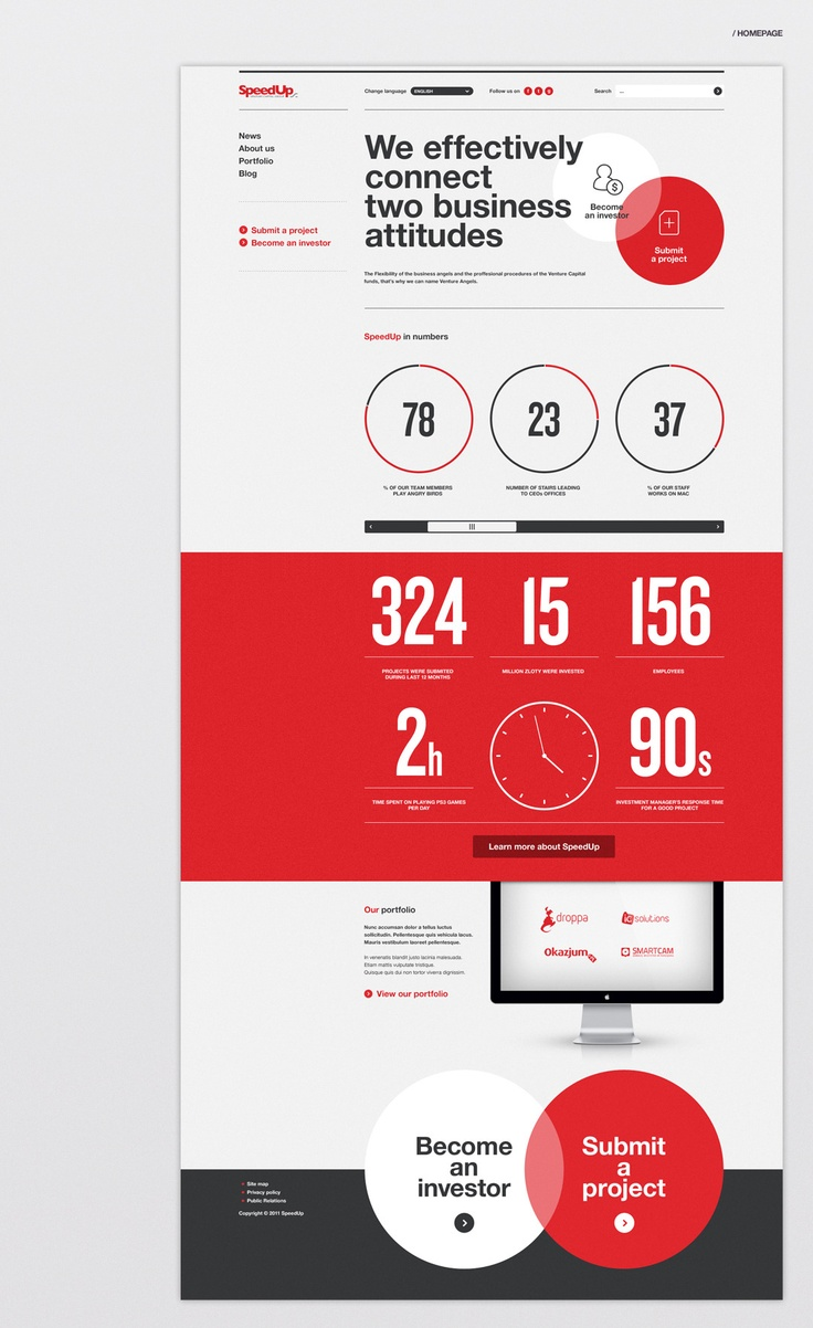 Speedup capital group website by Maciej Mach