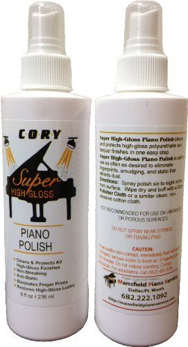Super High Gloss Piano Polish - 1 bottle, 4oz Spray  Buy from the only Authorized Dealer of Cory Care Products on Amazon  One Step process - Use as Often as Desired  Specially Formulated  Helps prevent fading and surface deterioration  You are getting 1 bottle of product - Not 2. Photo shows 2 bottles so you can see the label on the back.