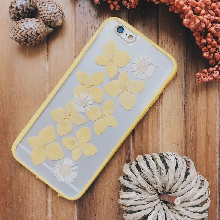 Amber |  Handmade Pressed Flower iPhone Bumper Cases for iPhone 6/iPhone 6s | Clear bumper case handmade with real pressed flowers