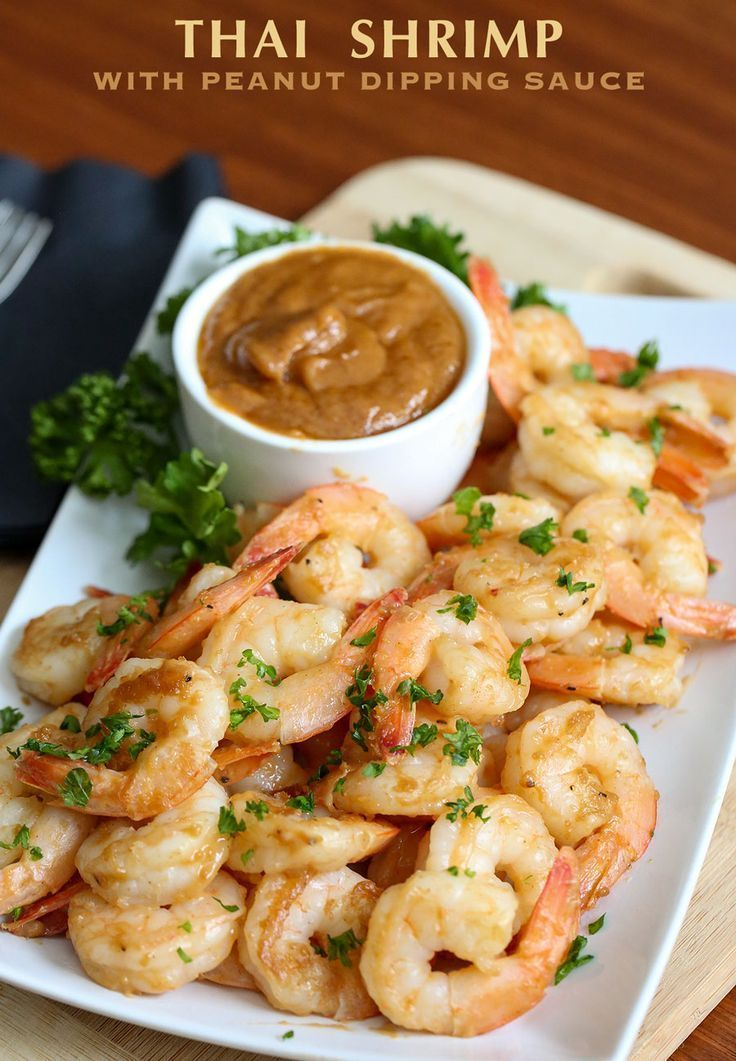 Thai Shrimp with Peanut Dipping Sauce recipe, a few simple ingredients makes this shrimp and dipping sauce enjoyed alone or in stir-fry