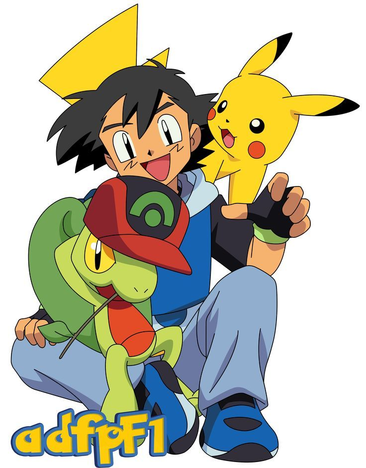 treecko ash pikachu