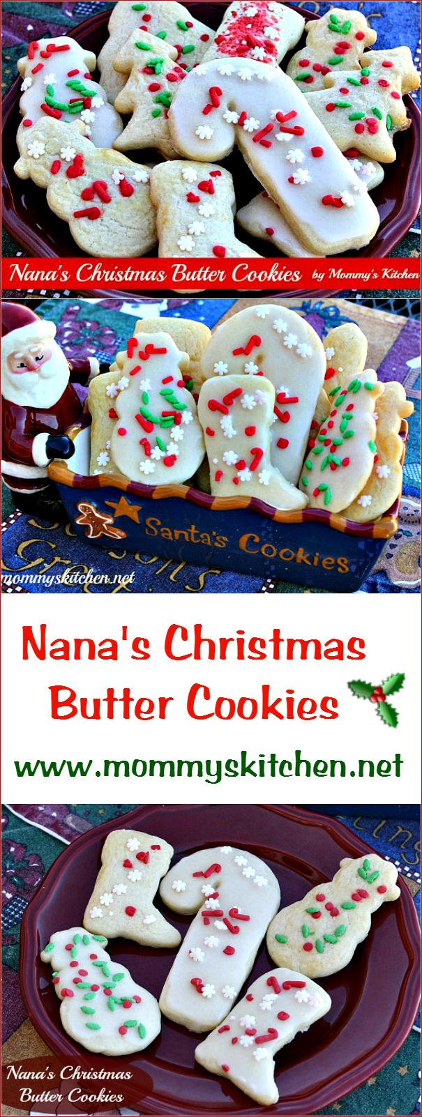 It just wouldn't be Christmas without my moms Christmas Butter Cookies. I have had these cookies every year for Christmas for over 40 years. When I was a kid I remember my mother working in the kitchen making batch after batch of these yummy cookies to mail off to my older siblings. #christmas #holidaybaking #cookies #tradition #mommyskitchen