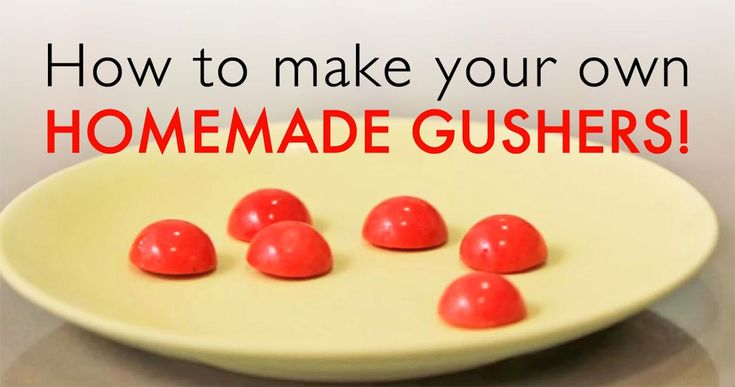 Make strawberry gushers that burst in your mouth with our DIY recipe