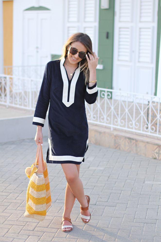 Tunic love! // Stephanie Sterjovski - #SailToSable #Preppy #Nautical