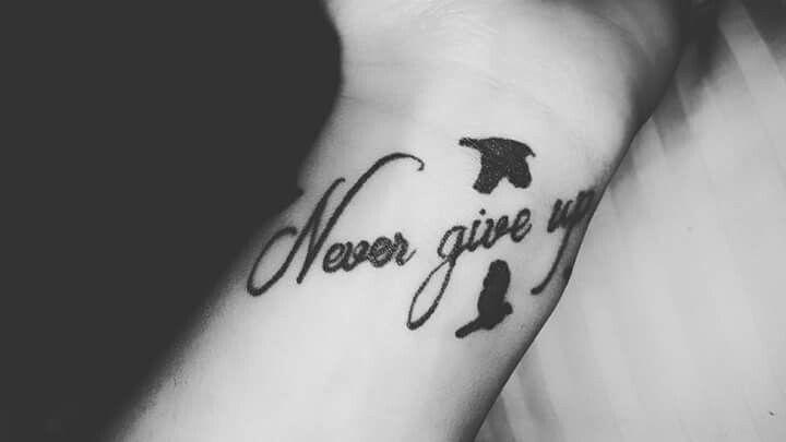 #nevergiveup #mytattoo