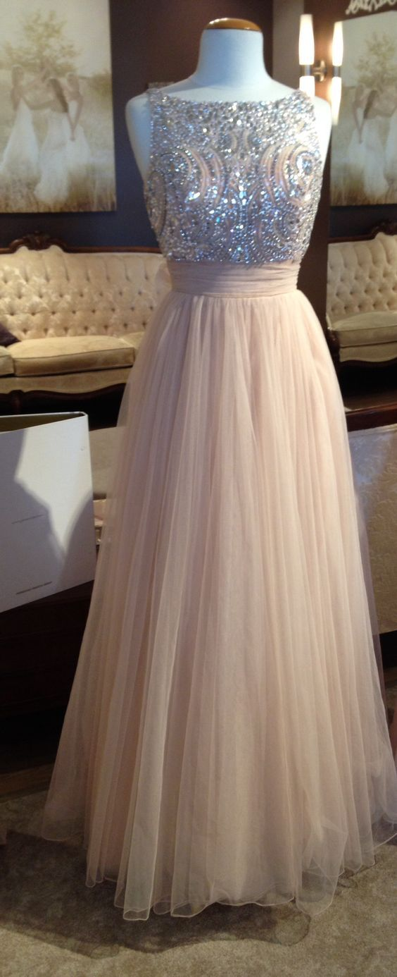 Cute pink prom dress for teens, homecoming 2016