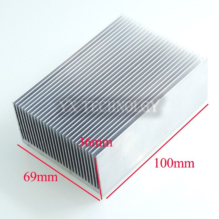 Heat sink 100*69*36MM (silver) high-quality ultra-thick aluminum radiator