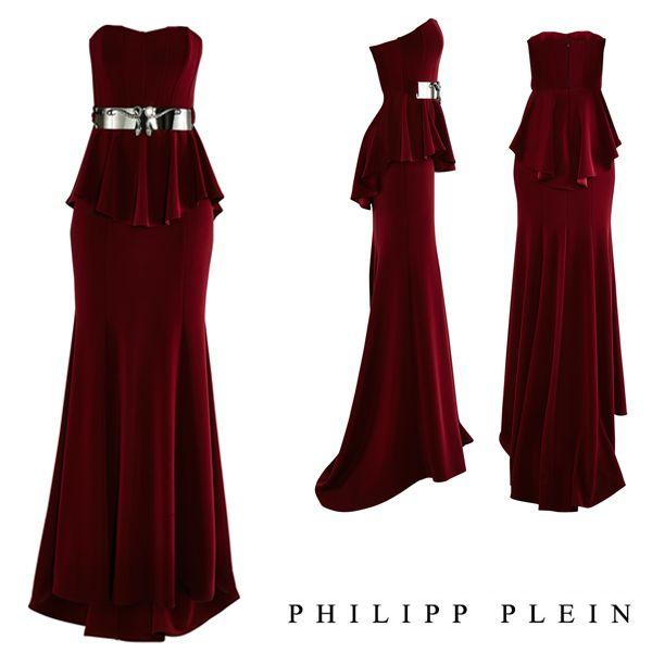 #philippplein #fallwinter2014 #fall2013 #stilllife #eveninggown #dress #sleeveless #goldbelt #openback #eveningwear #cocktaildress #skull #womenswear #abudhabi #abudhabistyle #fashionista #gown #greenbird #strapless #burgundy