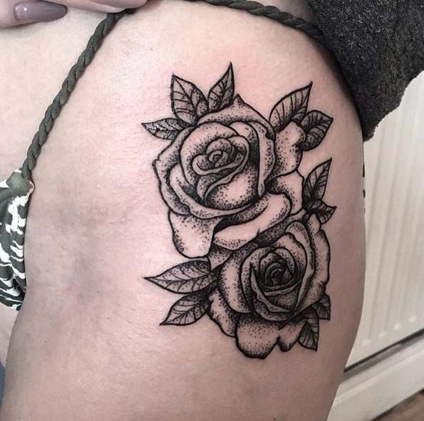 17 Best Ideas About Thigh Quote Tattoos On Pinterest: 17 Best Ideas About Rose Tattoo On Thigh On Pinterest