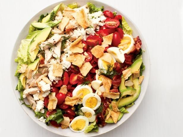 Get Greek Cobb Salad Recipe from Food Network