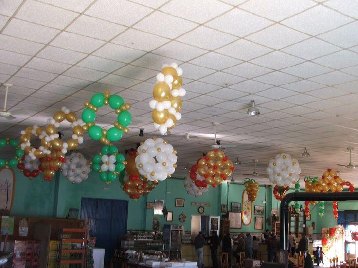 Tema navidad para el techo decoraciones con globos para - Decoraciones de navidad ...