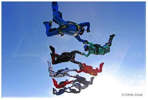 Billy Payne's Load Organising - 10way Open Accordium Race - Skydive Langar  © Chris Cook