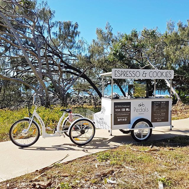 Another day, another location :) Bicycle Coffee Cart